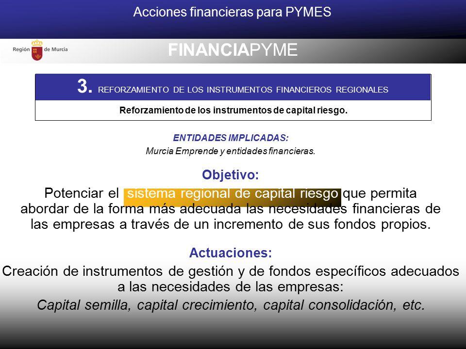 Reforzamiento de los instrumentos de capital riesgo.