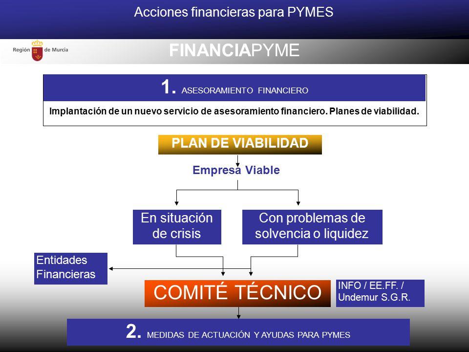 PLAN DE VIABILIDAD Acciones financieras para PYMES En situación de crisis Con problemas de solvencia o liquidez Empresa Viable INFO / EE.FF.