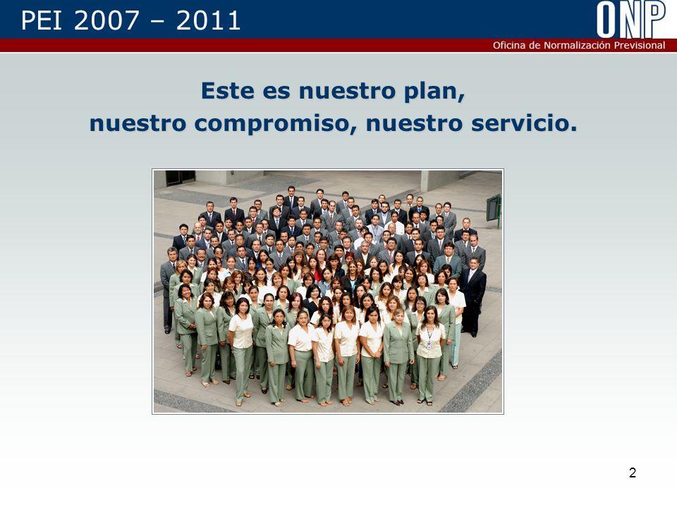 2 Este es nuestro plan, nuestro compromiso, nuestro servicio. PEI 2007 – 2011