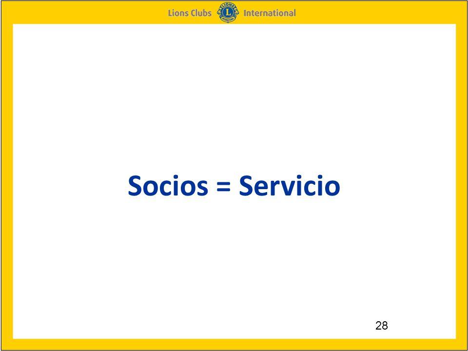 28 Socios = Servicio