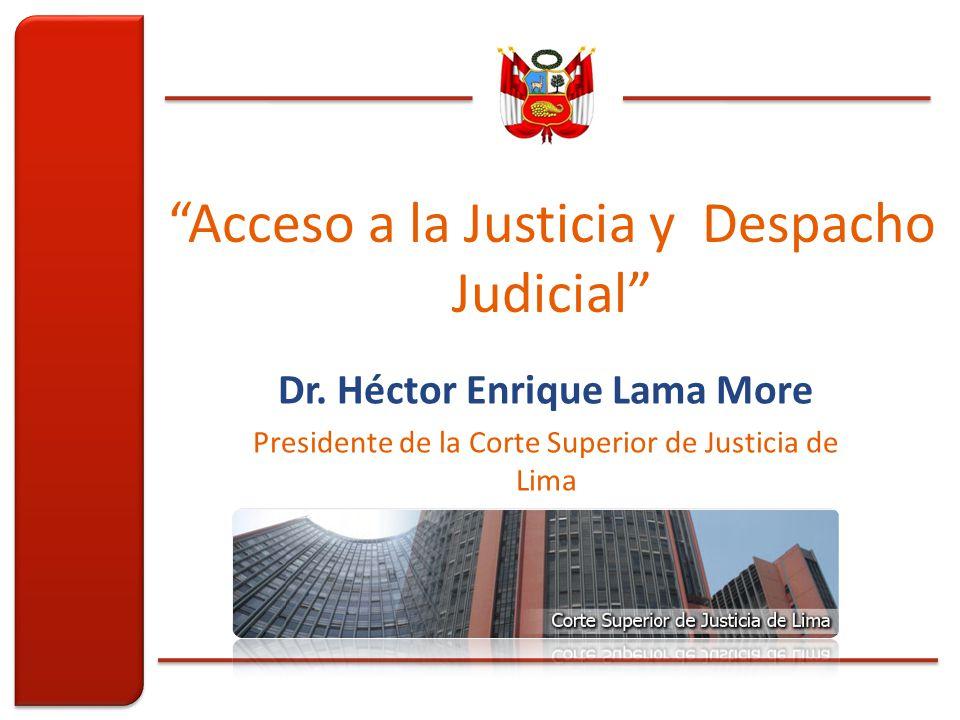 Acceso a la Justicia y Despacho Judicial Dr.