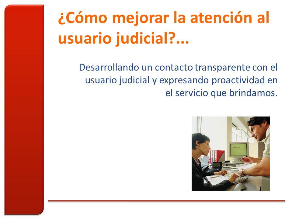 ¿Cómo mejorar la atención al usuario judicial ...