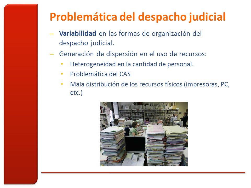 Problemática del despacho judicial – Variabilidad en las formas de organización del despacho judicial.