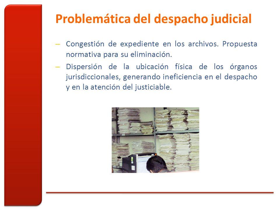 Problemática del despacho judicial – Congestión de expediente en los archivos.