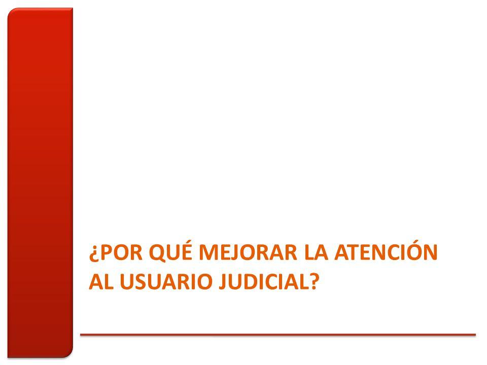 ¿POR QUÉ MEJORAR LA ATENCIÓN AL USUARIO JUDICIAL