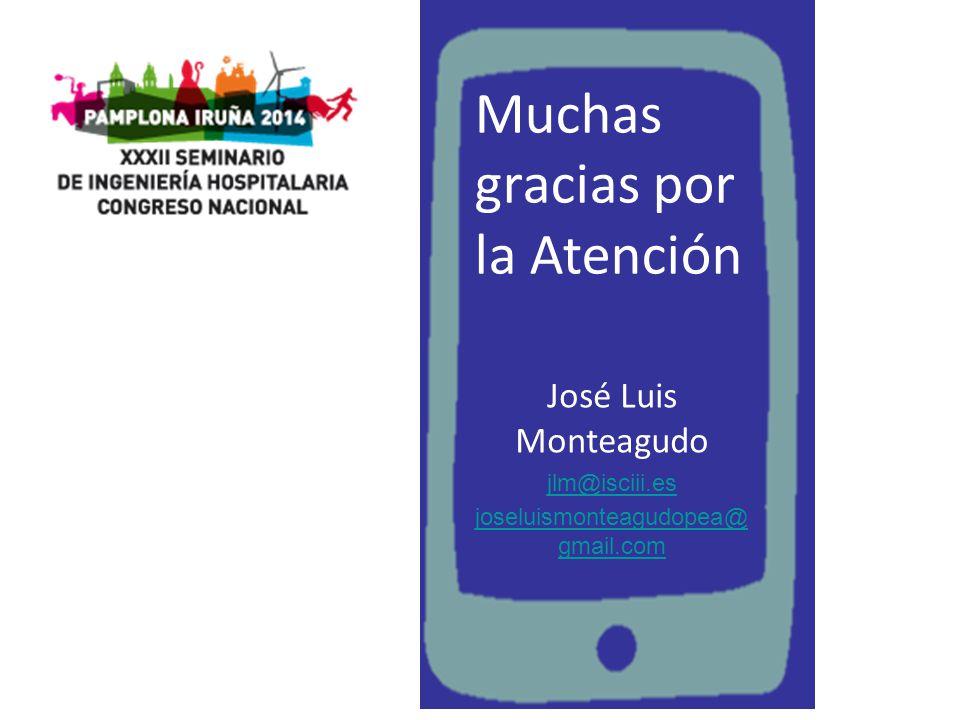Muchas gracias por la Atención José Luis Monteagudo jlm@isciii.es joseluismonteagudopea@ gmail.com