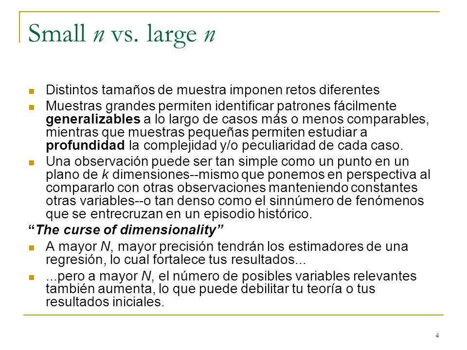 4 Small n vs.