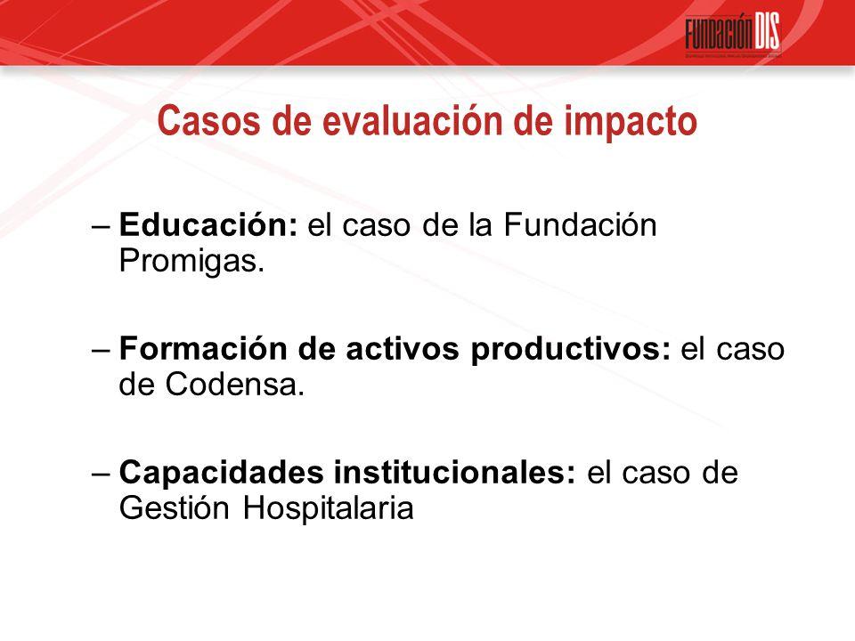 Casos de evaluación de impacto –Educación: el caso de la Fundación Promigas.