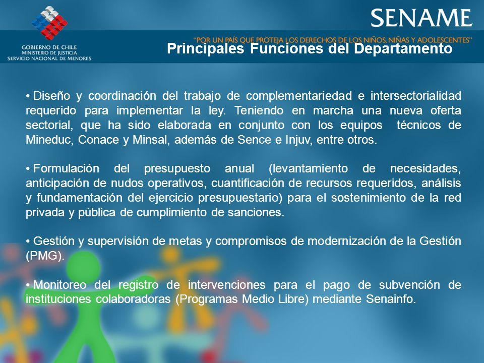 Diseño y coordinación del trabajo de complementariedad e intersectorialidad requerido para implementar la ley.