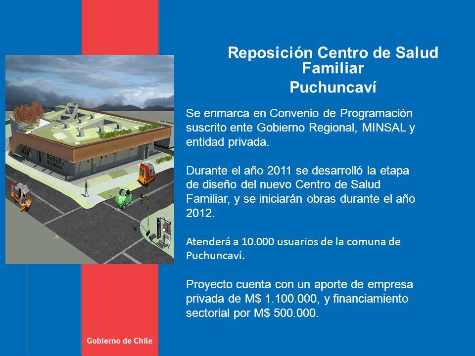Reposición Centro de Salud Familiar Puchuncaví Se enmarca en Convenio de Programación suscrito ente Gobierno Regional, MINSAL y entidad privada.