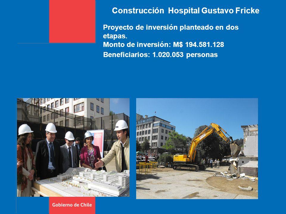 Construcción Hospital Gustavo Fricke Proyecto de inversión planteado en dos etapas.