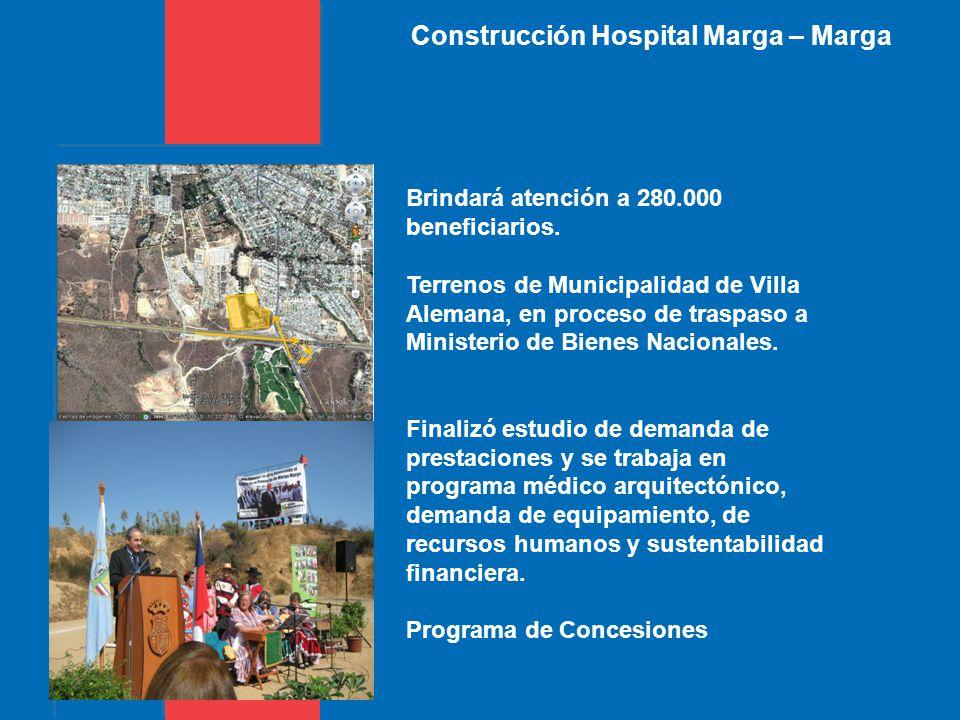 Construcción Hospital Marga – Marga Brindará atención a 280.000 beneficiarios.