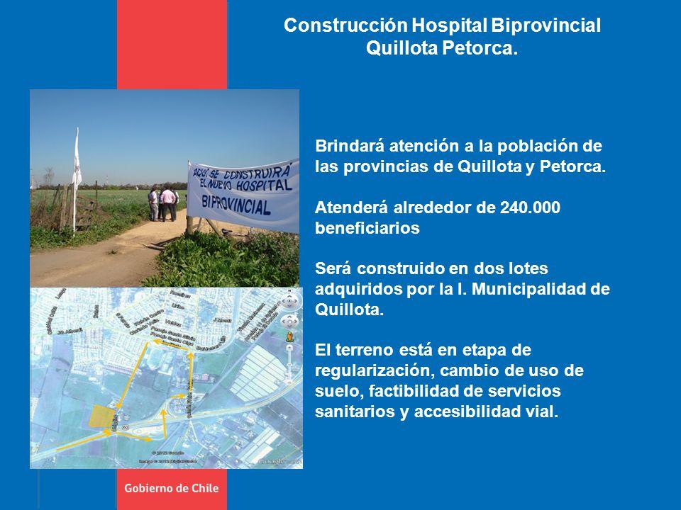 Construcción Hospital Biprovincial Quillota Petorca.