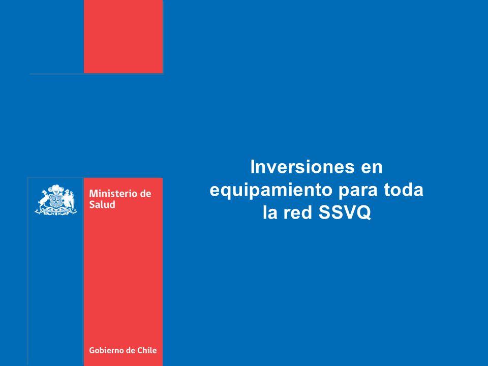 Inversiones en equipamiento para toda la red SSVQ