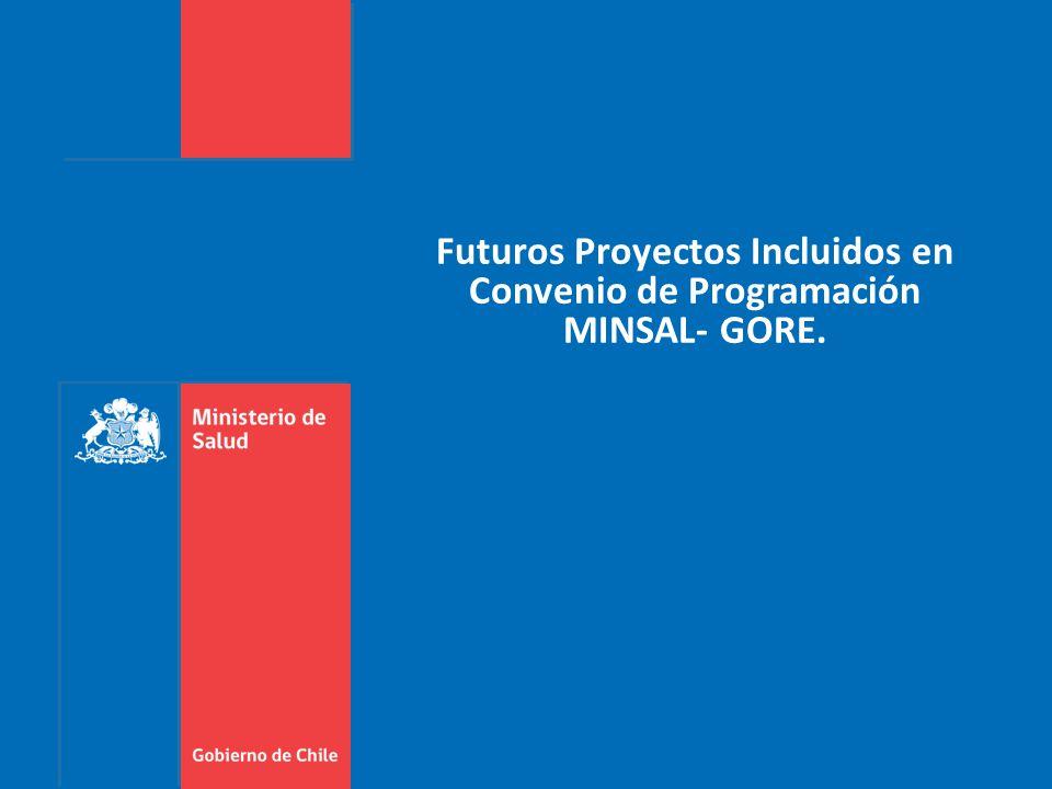 Futuros Proyectos Incluidos en Convenio de Programación MINSAL- GORE.