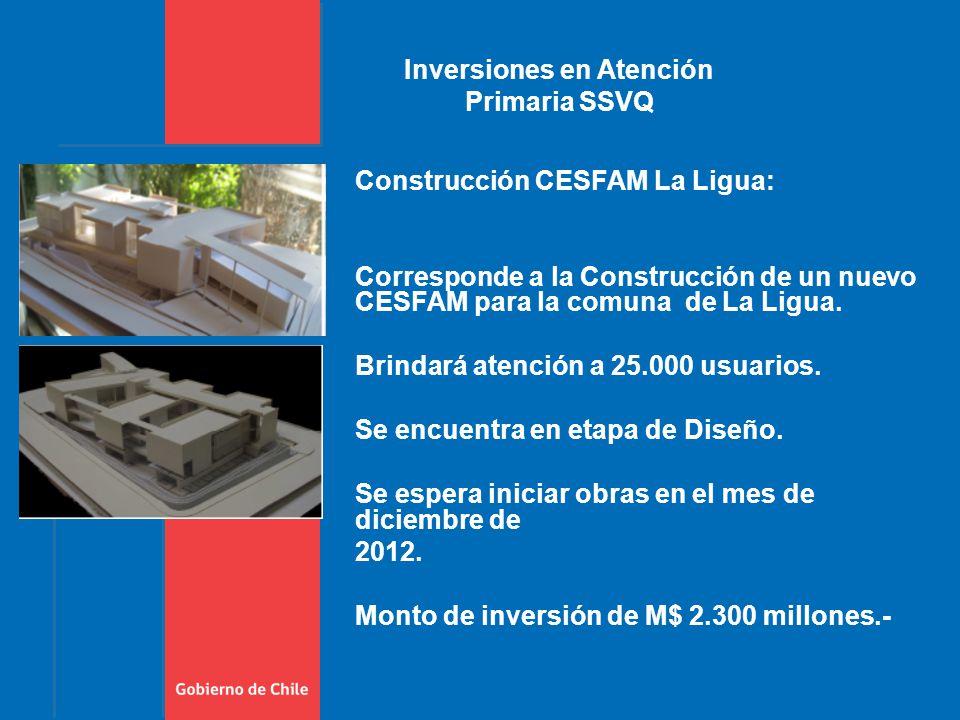 Construcción CESFAM La Ligua: Corresponde a la Construcción de un nuevo CESFAM para la comuna de La Ligua.