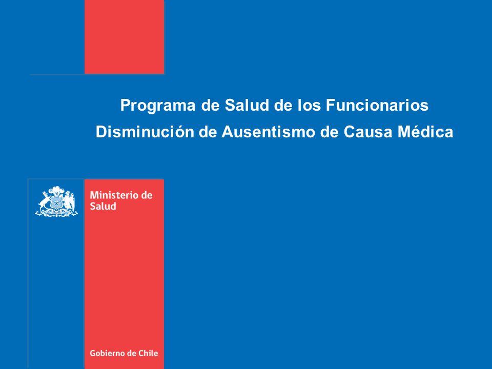 Programa de Salud de los Funcionarios Disminución de Ausentismo de Causa Médica