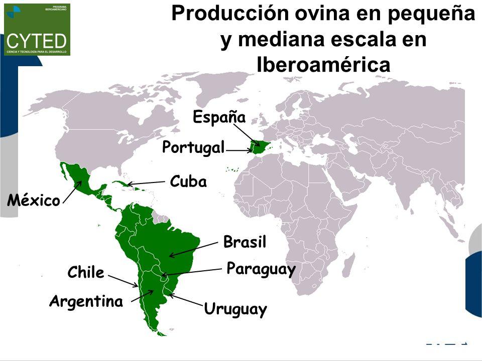 Producción ovina en pequeña y mediana escala en Iberoamérica Argentina Chile Uruguay Cuba México Paraguay Brasil Portugal España