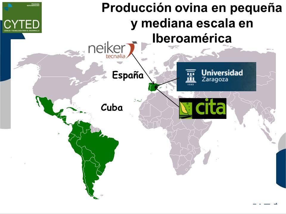 Producción ovina en pequeña y mediana escala en Iberoamérica España Cuba