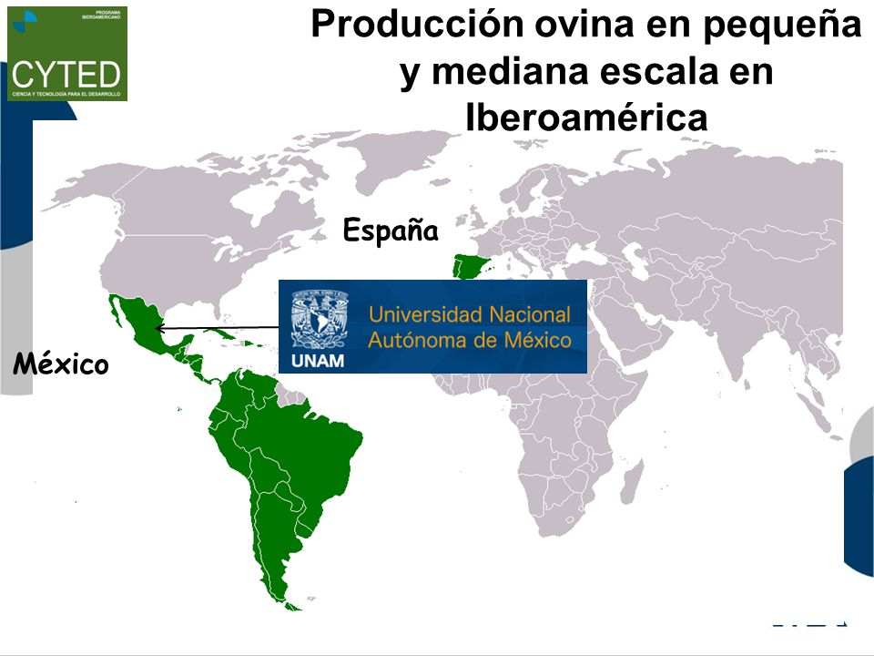 Producción ovina en pequeña y mediana escala en Iberoamérica México España