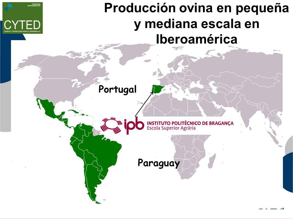 Producción ovina en pequeña y mediana escala en Iberoamérica Paraguay Portugal