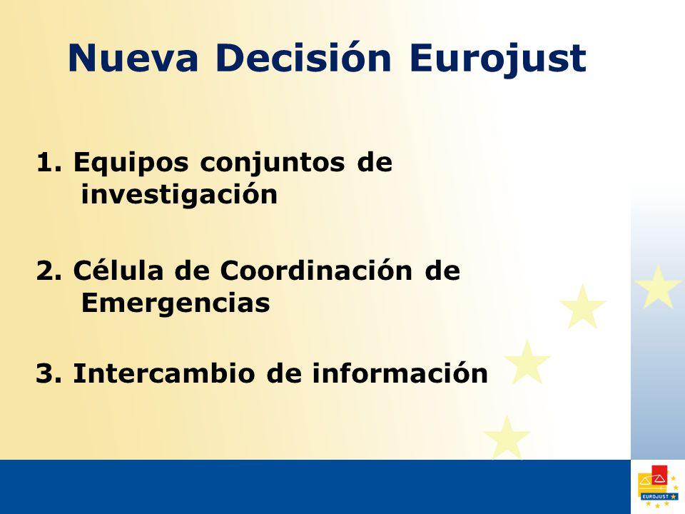 Nueva Decisión Eurojust 1. Equipos conjuntos de investigación 2.