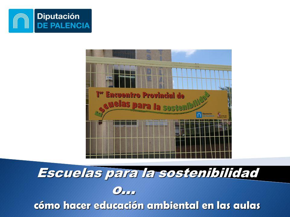 Escuelas para la sostenibilidad o... cómo hacer educación ambiental en las aulas
