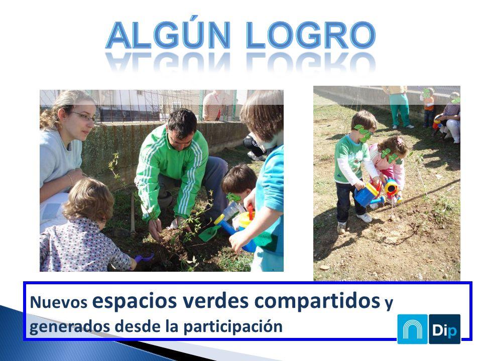 Nuevos espacios verdes compartidos y generados desde la participación