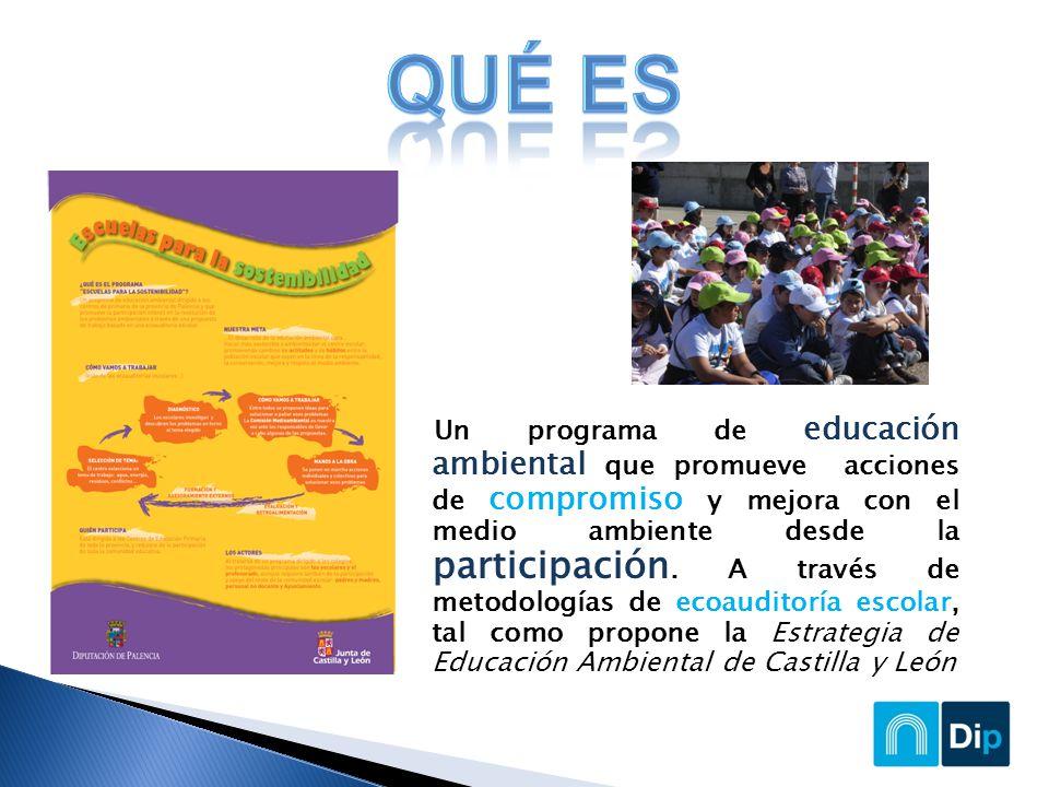 Un programa de educación ambiental que promueve acciones de compromiso y mejora con el medio ambiente desde la participación.