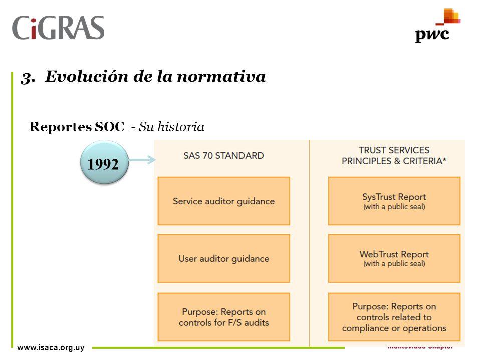 www.isaca.org.uy Reportes SOC - Su historia 3.Evolución de la normativa 1992