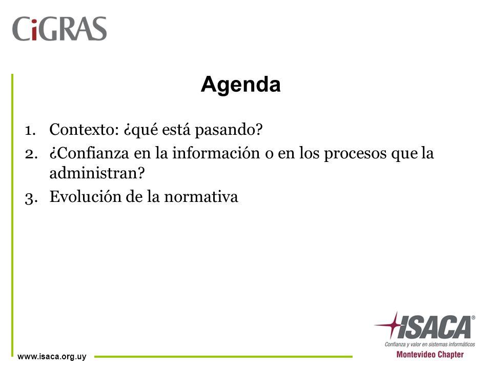 www.isaca.org.uy Agenda 1.Contexto: ¿qué está pasando.