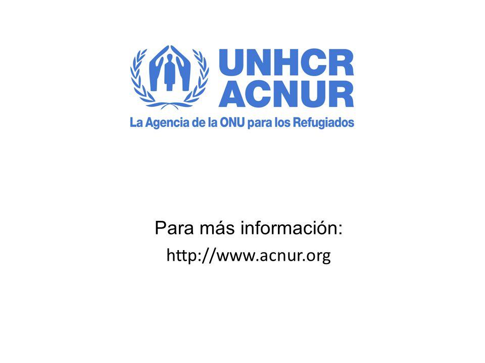 Para más información: http://www.acnur.org