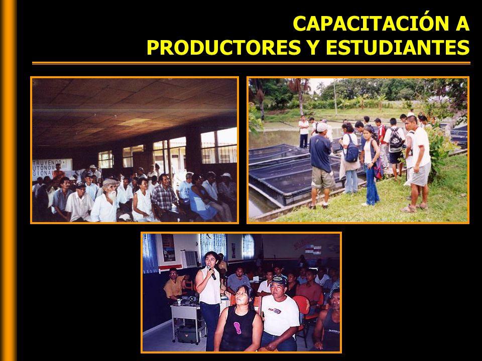 CAPACITACIÓN A PRODUCTORES Y ESTUDIANTES