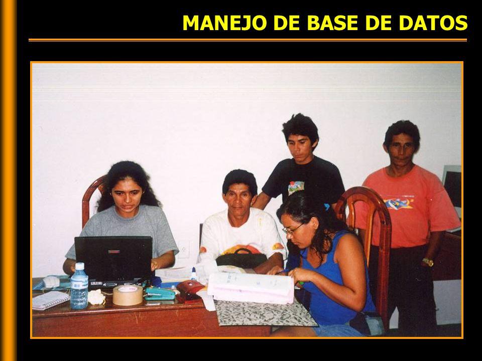 MANEJO DE BASE DE DATOS