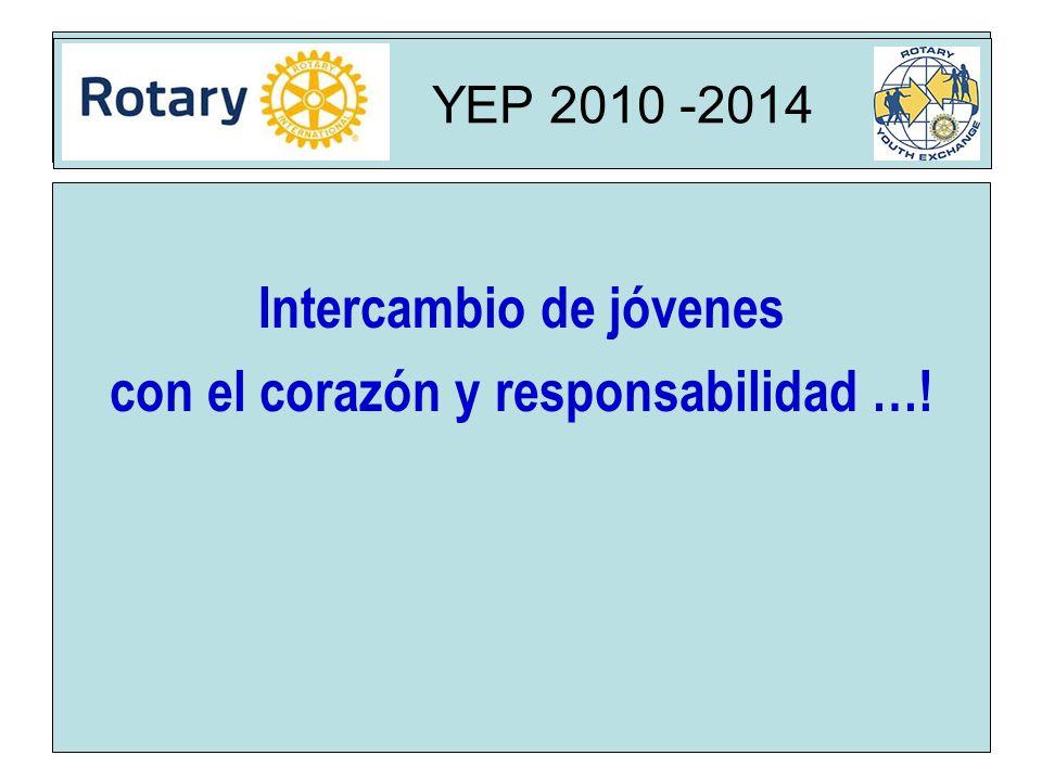 Rota YEP 2010 -2014 Intercambio de jóvenes con el corazón y responsabilidad …! YEP 2010 -2014