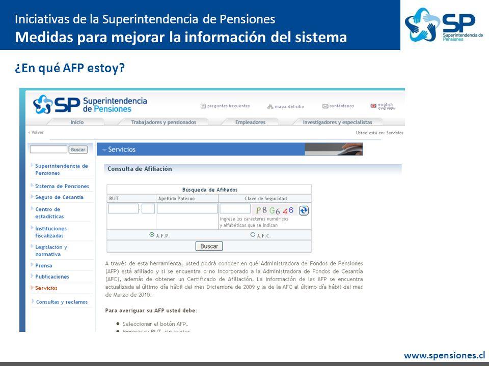 www.spensiones.cl ¿En qué AFP estoy.