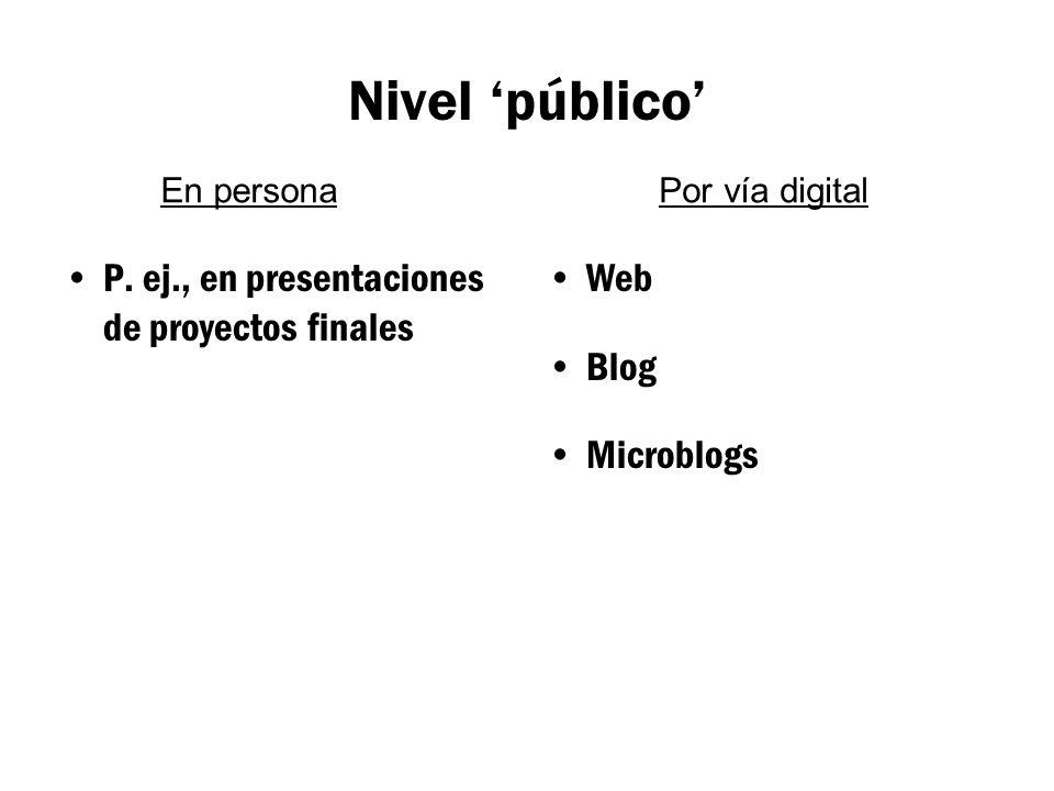 Nivel 'público' P.