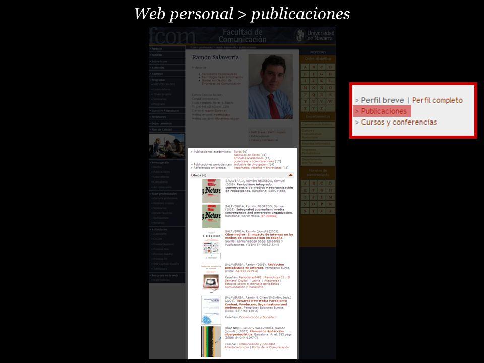 Web personal > publicaciones