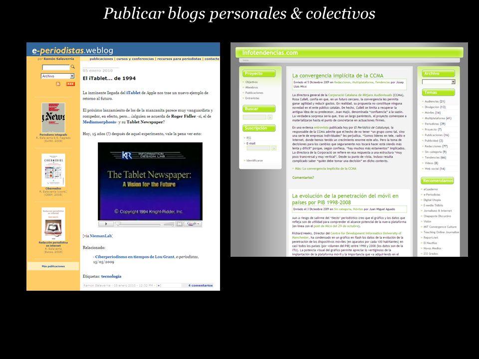Publicar blogs personales & colectivos