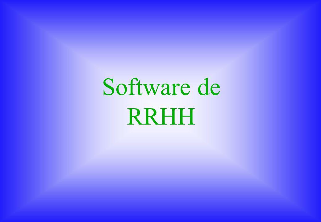 Recursos Humanos Enero 2001 Software de RRHH