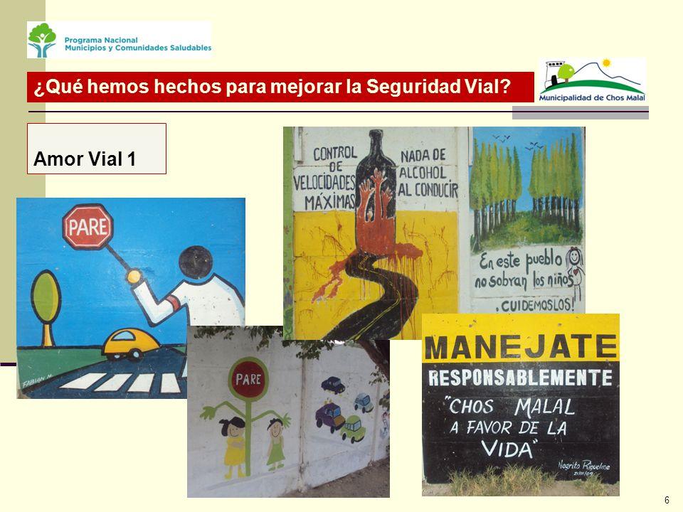 Amor Vial 1 ¿Qué hemos hechos para mejorar la Seguridad Vial 6