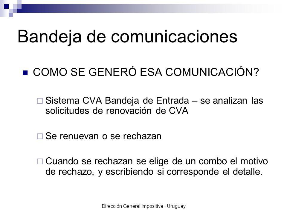 Dirección General Impositiva - Uruguay COMO SE GENERÓ ESA COMUNICACIÓN.