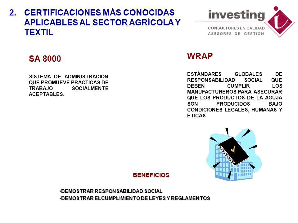 SA 8000 SISTEMA DE ADMINISTRACIÓN QUE PROMUEVE PRÁCTICAS DE TRABAJO SOCIALMENTE ACEPTABLES.
