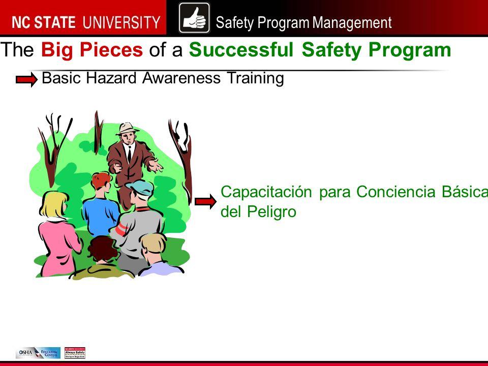 Safety Program Management The Big Pieces of a Successful Safety Program Basic Hazard Awareness Training Capacitación para Conciencia Básica del Peligro