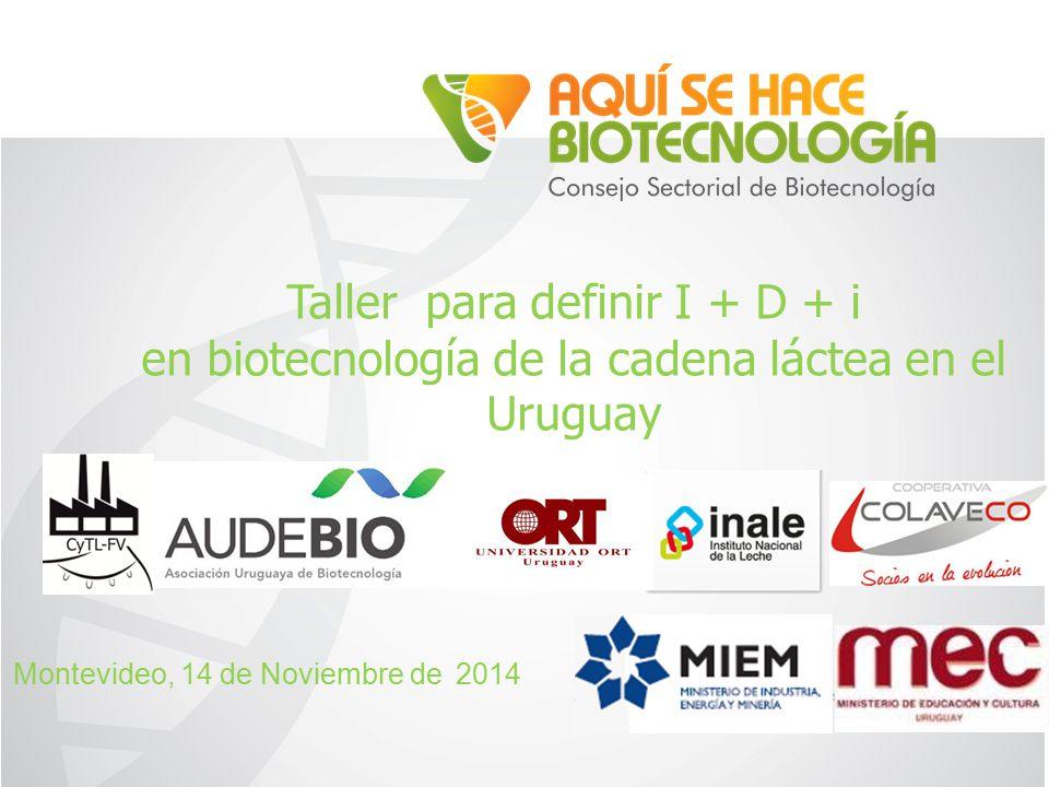 Taller para definir I + D + i en biotecnología de la cadena láctea en el Uruguay Montevideo, 14 de Noviembre de 2014
