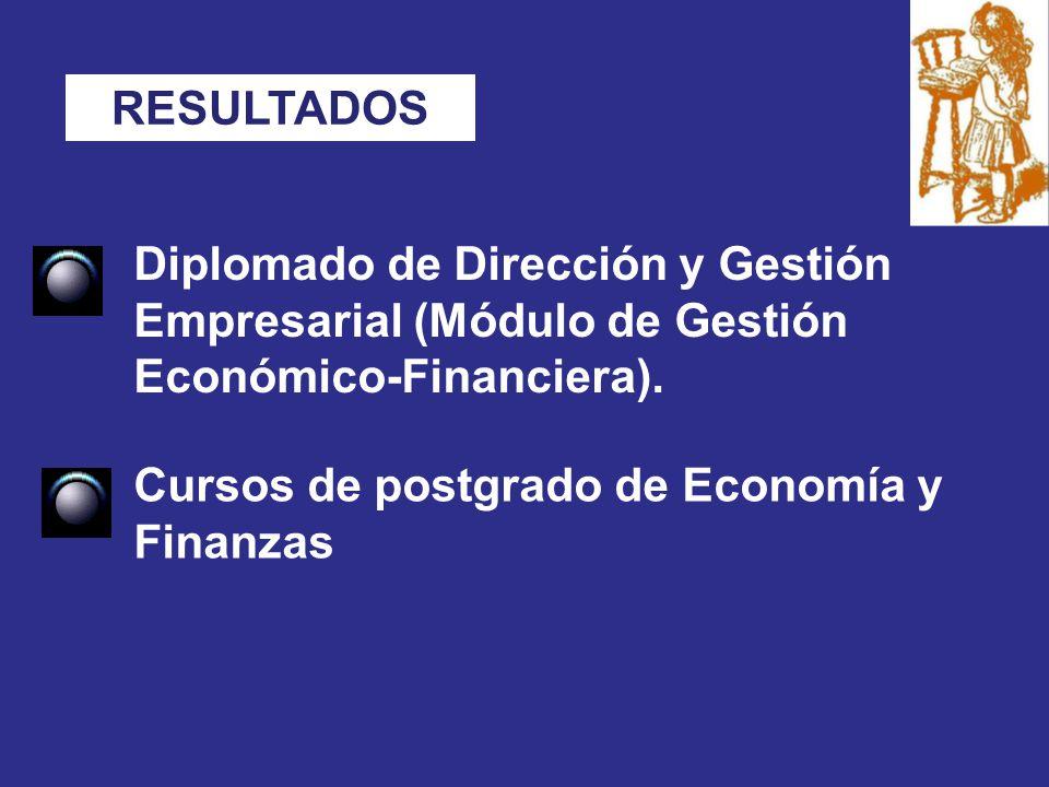 Diplomado de Dirección y Gestión Empresarial (Módulo de Gestión Económico-Financiera).