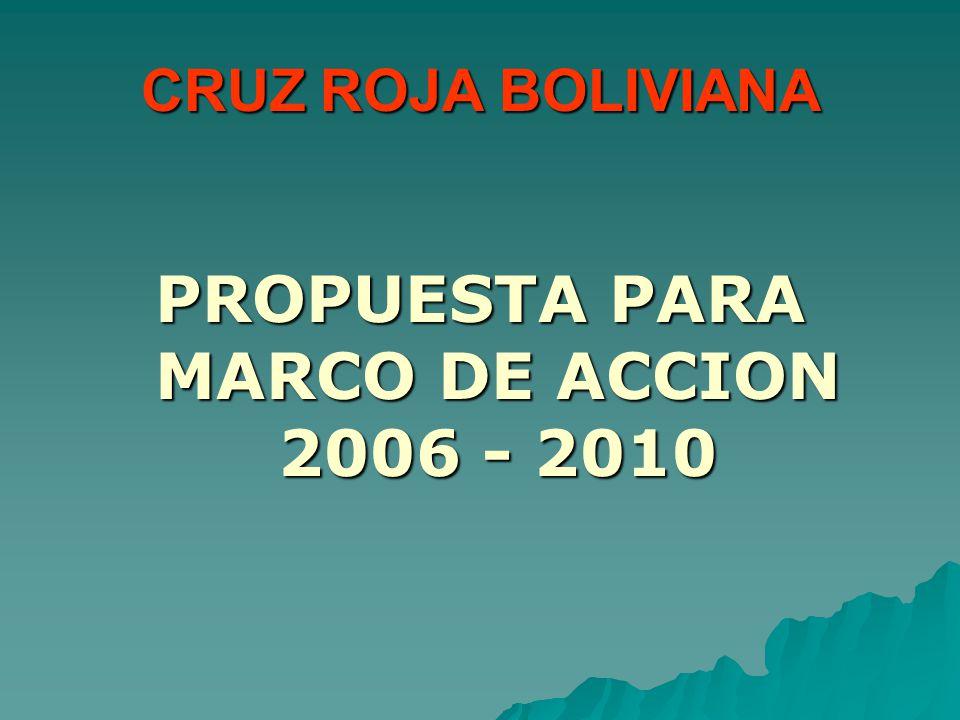 CRUZ ROJA BOLIVIANA PROPUESTA PARA MARCO DE ACCION 2006 - 2010