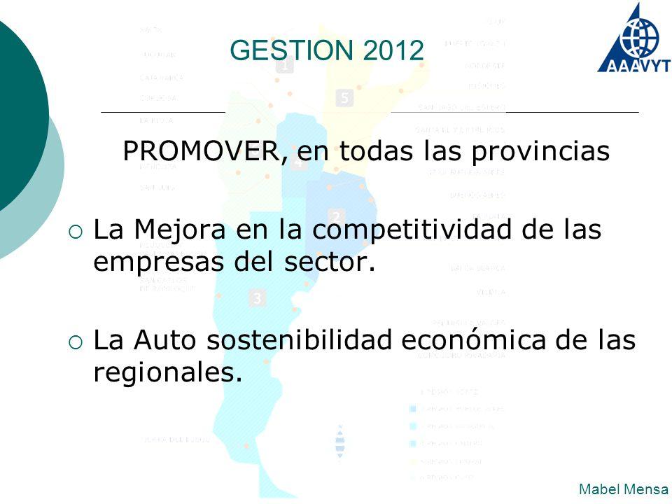 PROMOVER, en todas las provincias  La Mejora en la competitividad de las empresas del sector.