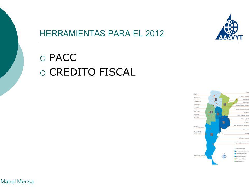 HERRAMIENTAS PARA EL 2012 Mabel Mensa  PACC  CREDITO FISCAL