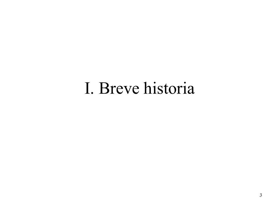 3 I. Breve historia